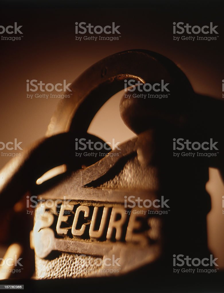Secure 3 royalty-free stock photo