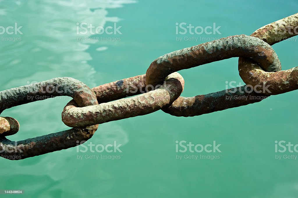 Secure Chain Link Teamwork royalty-free stock photo