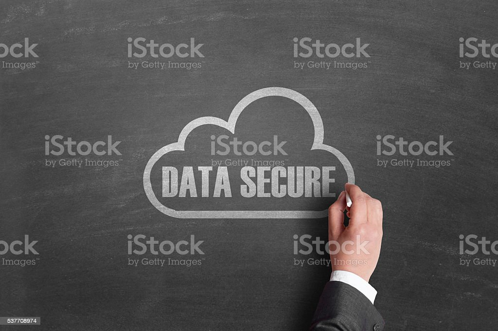 Secure cloud storage stock photo