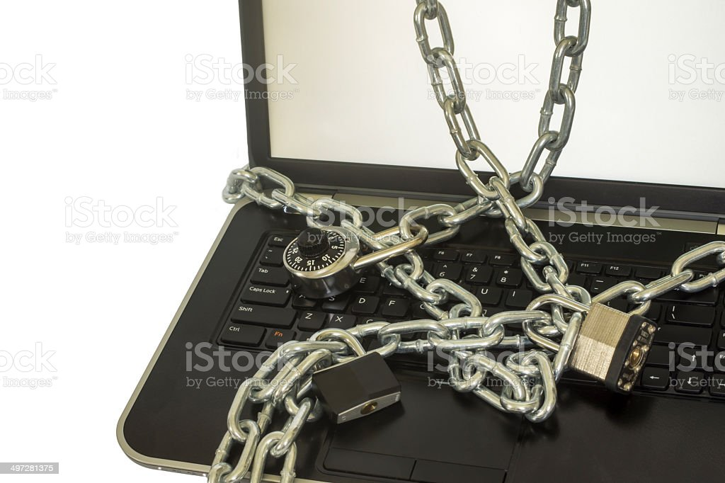 Secure Computer stock photo