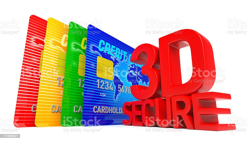 3D Secure Credit Card royalty-free stock photo