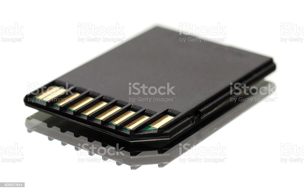 Secure Digital Card stock photo