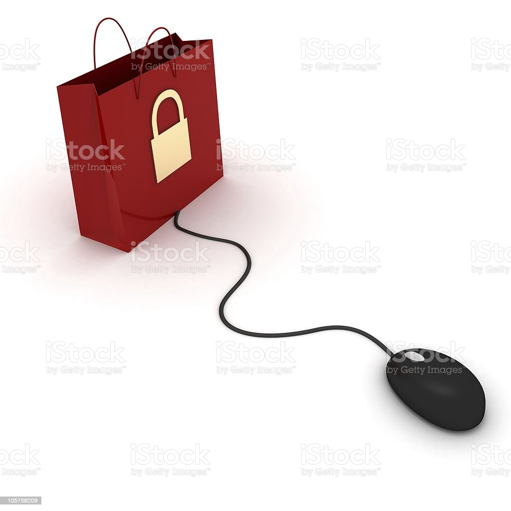 Secure e-commerce royalty-free stock photo