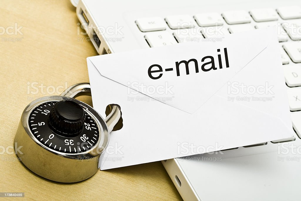 Secure e-mail. royalty-free stock photo