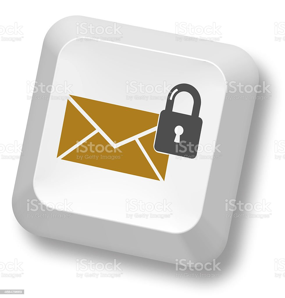 Secure E-Mail stock photo