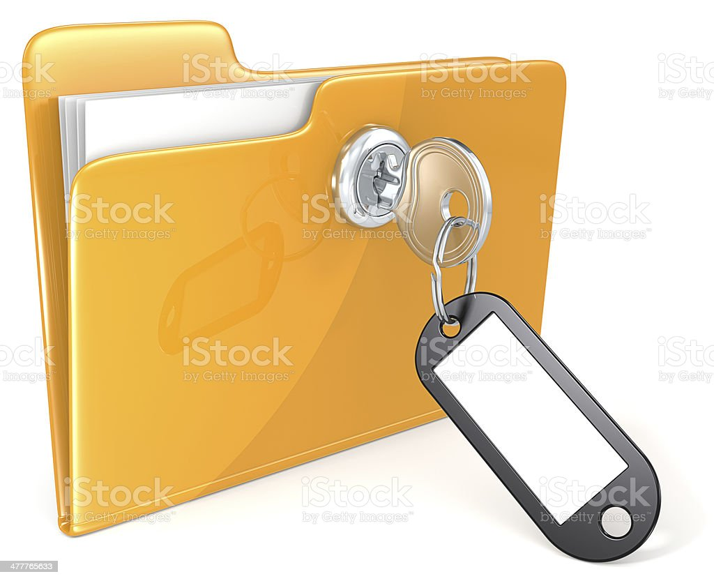 Secure files. royalty-free stock photo