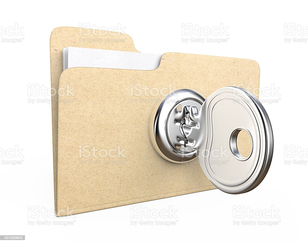 Secure files. stock photo