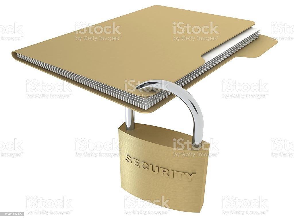Secure Folder royalty-free stock photo