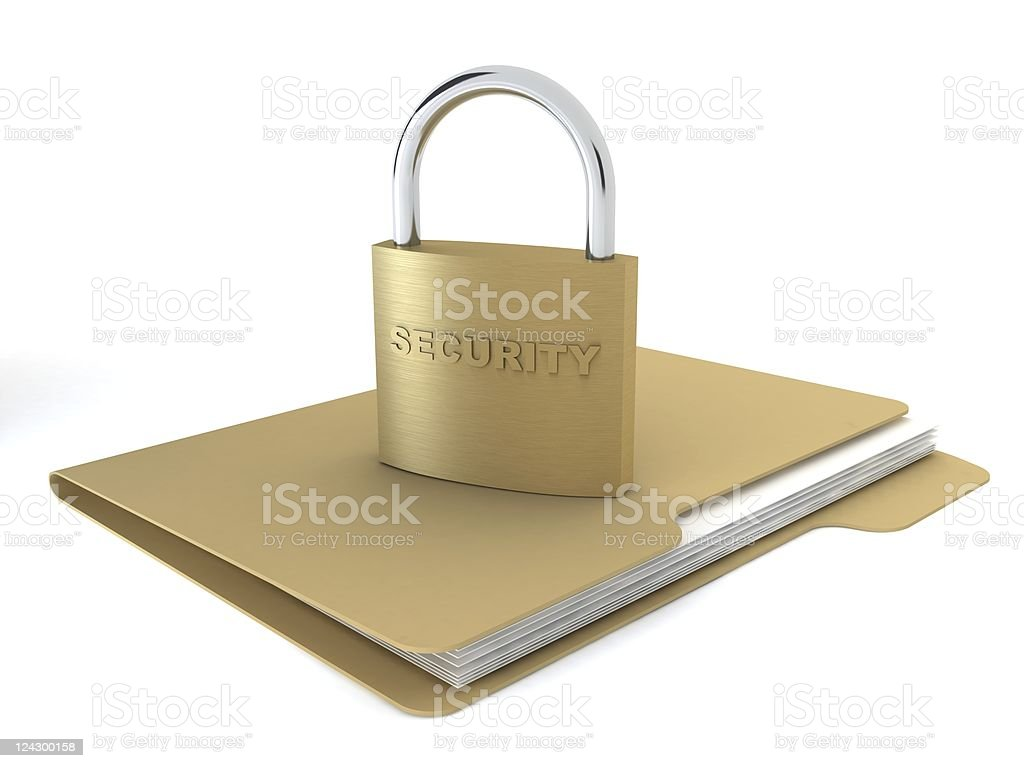 Secure Folder royalty-free stock photo
