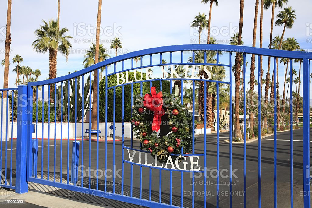 Secure Gated Community For Seniors royalty-free stock photo