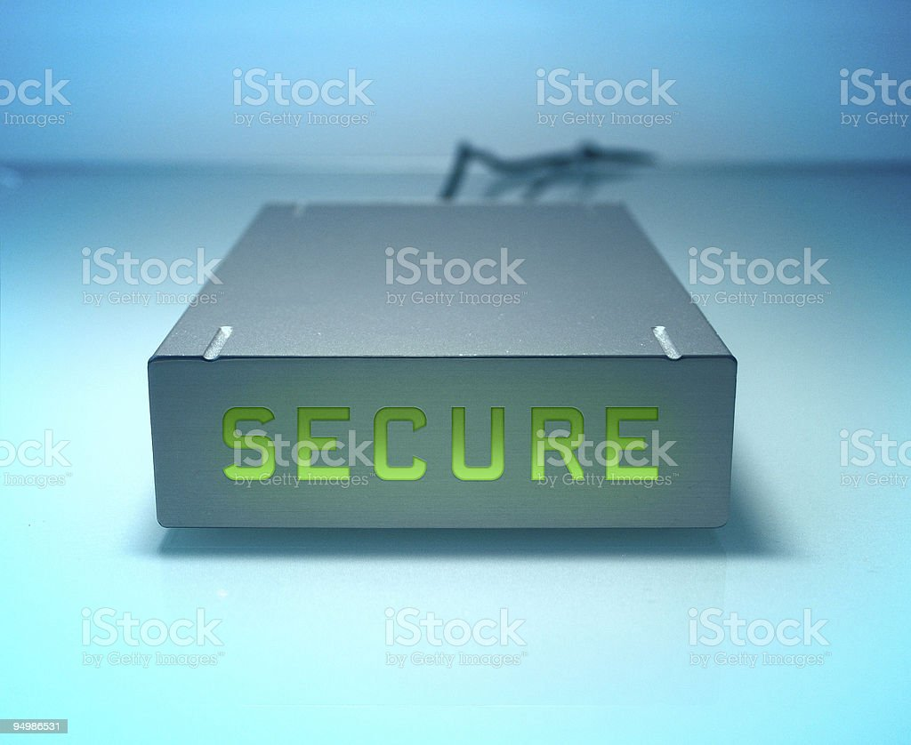 Secure hard drive royalty-free stock photo