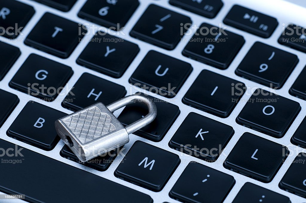 Secure home banking transition concept royalty-free stock photo