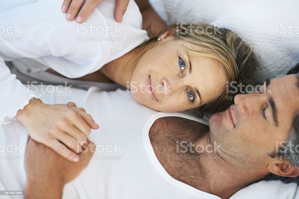 Secure in his arms royalty-free stock photo