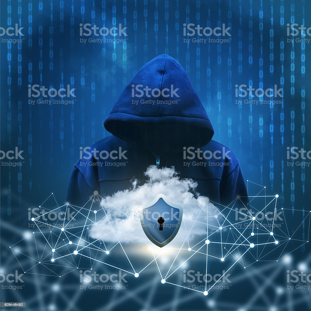 Secure Internet networks. stock photo