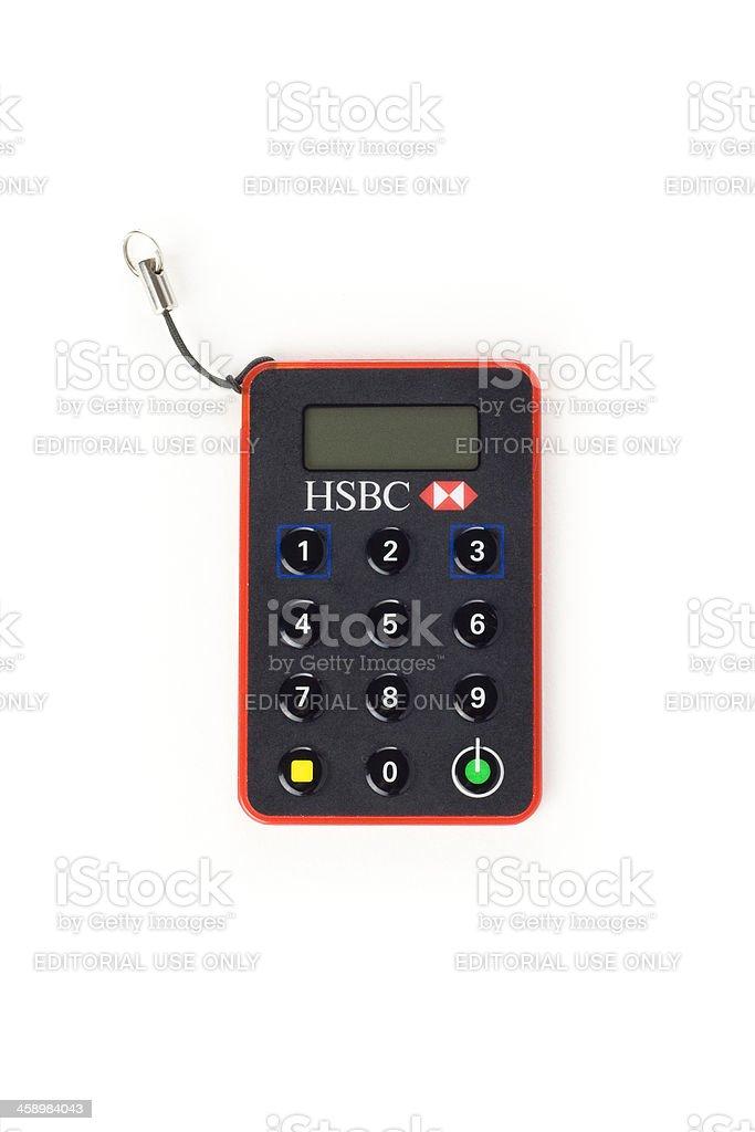 HSBC Secure Key royalty-free stock photo