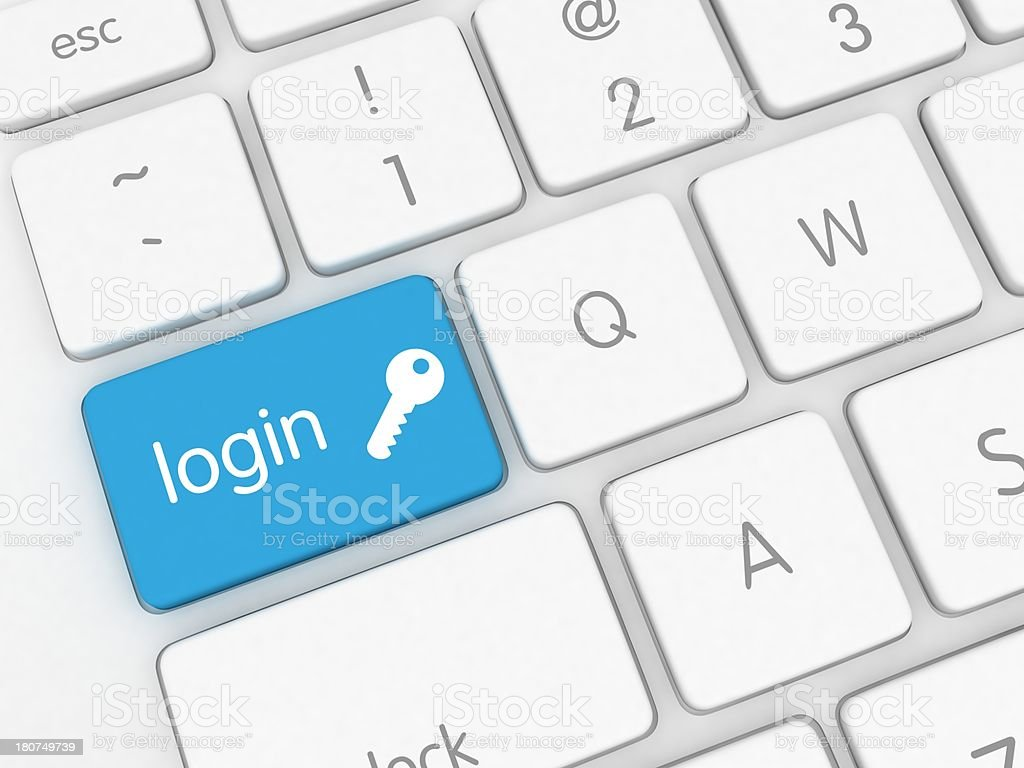 Secure Login stock photo