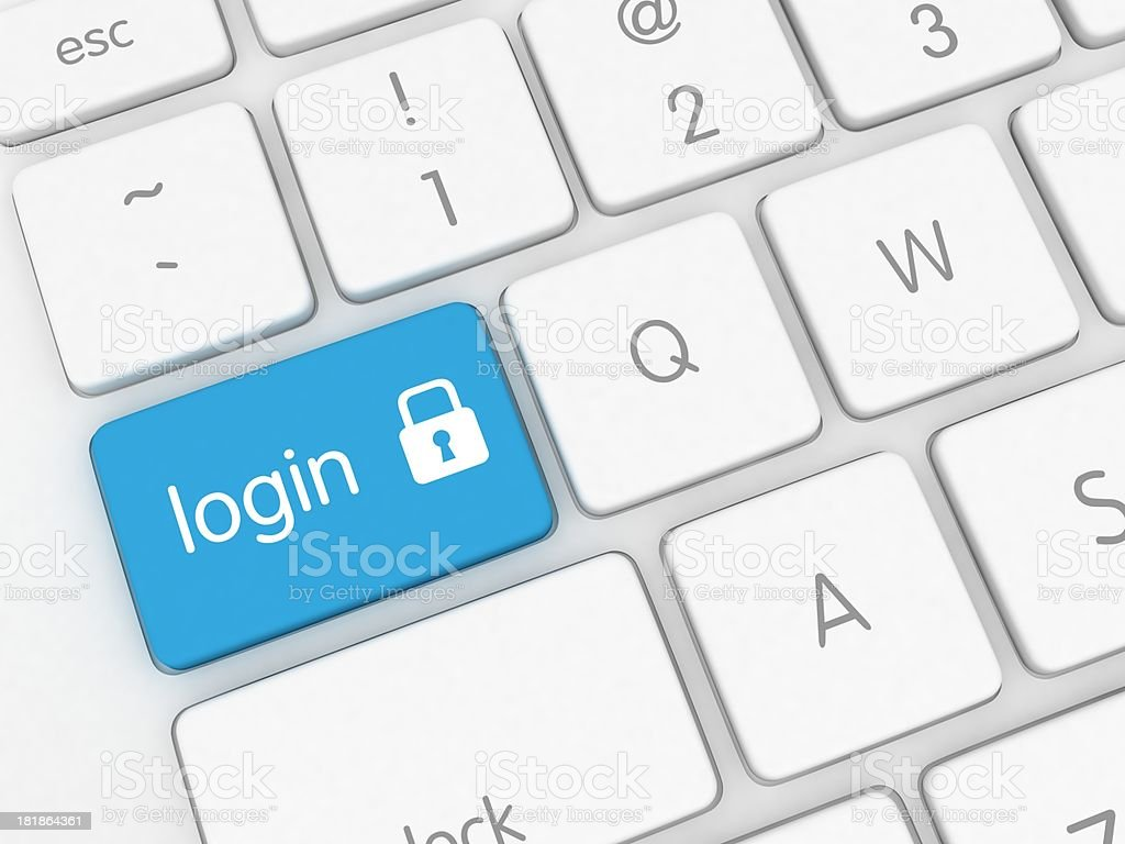 Secure Login royalty-free stock photo
