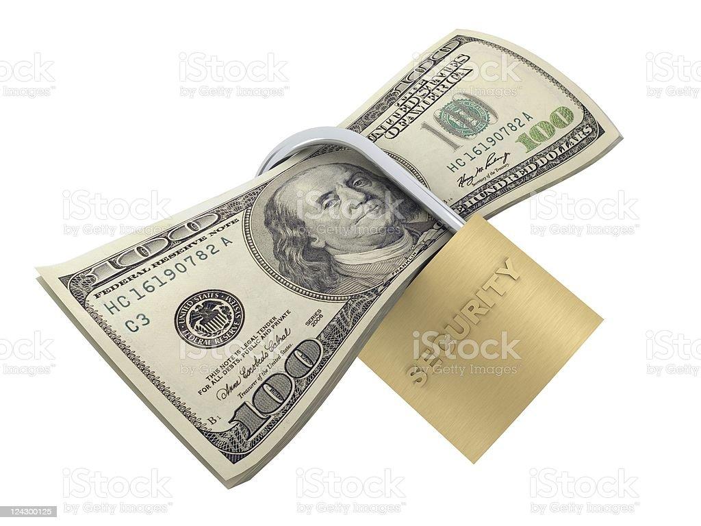 Secure Money royalty-free stock photo