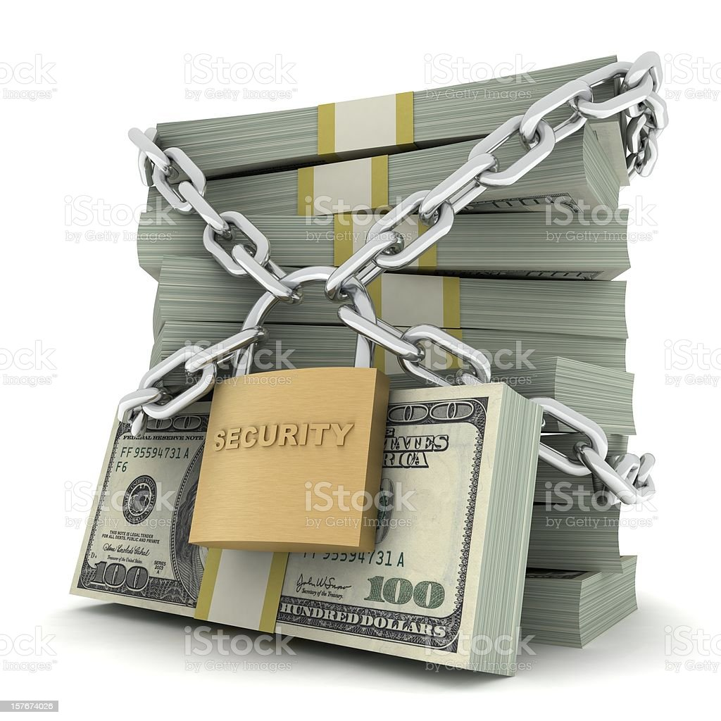 Secure Money royalty-free stock photo