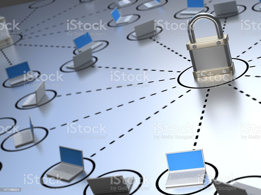 Secure Network stock photo