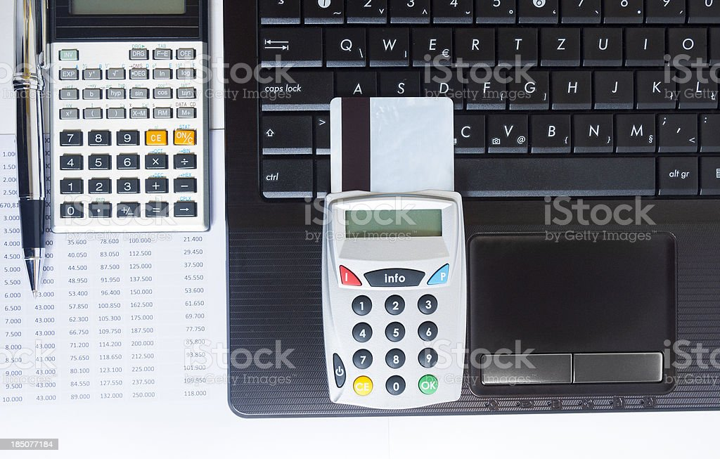 Secure online banking royalty-free stock photo