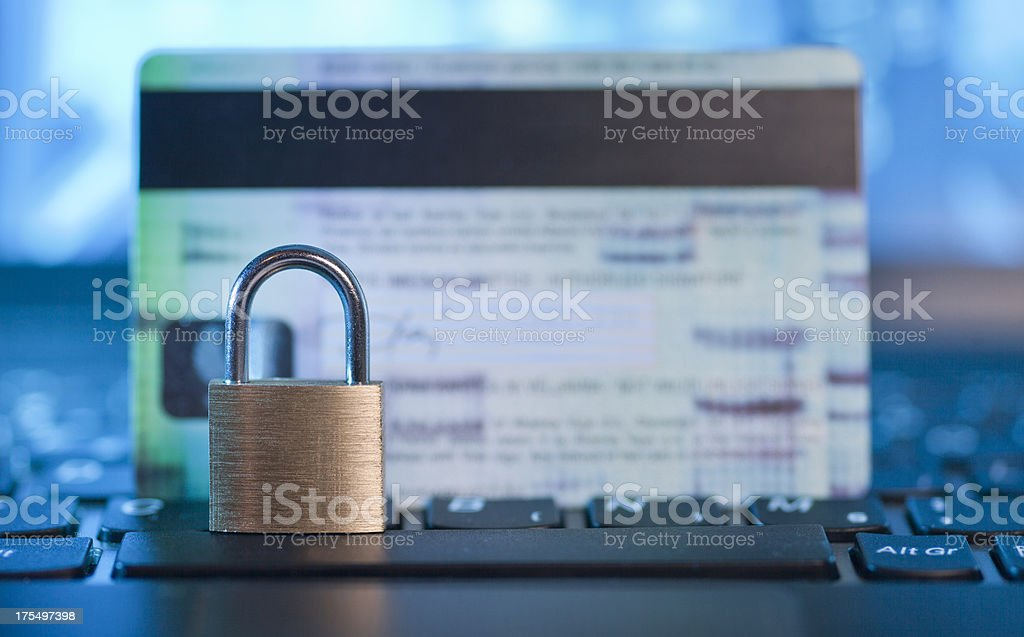 Secure online shopping stock photo