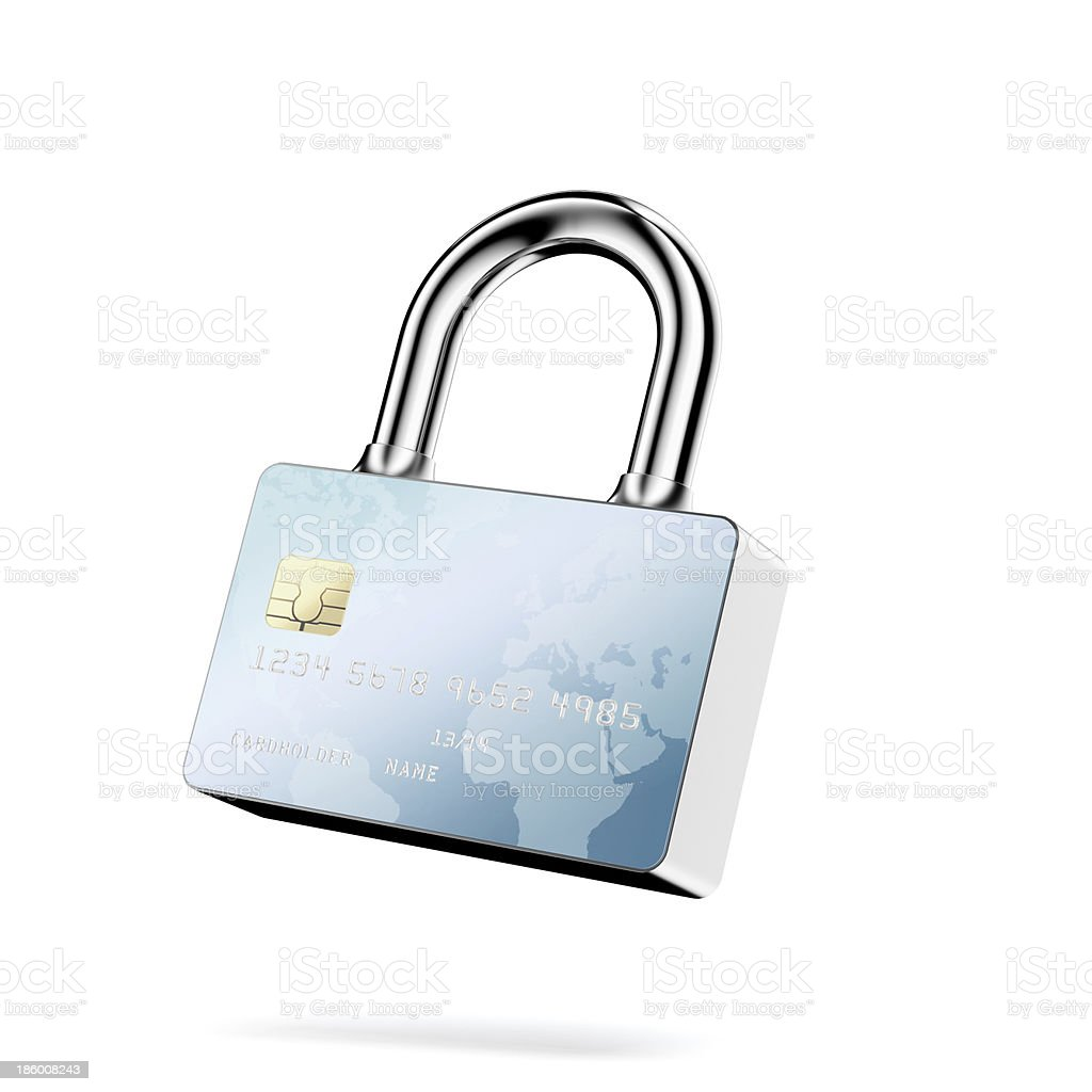 Secure Payments. Closed lock royalty-free stock photo
