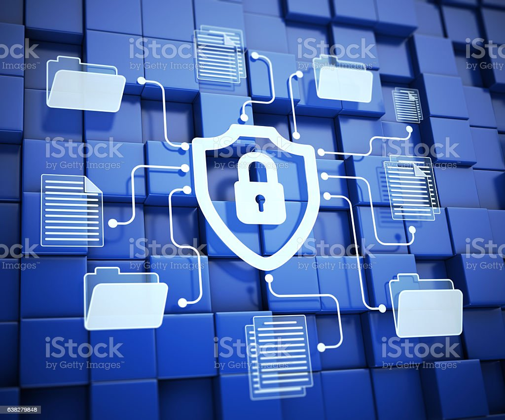 Secure system stock photo
