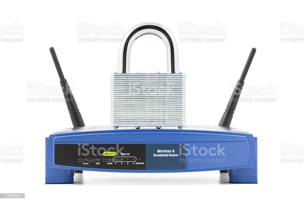 Secure Wireless Network royalty-free stock photo