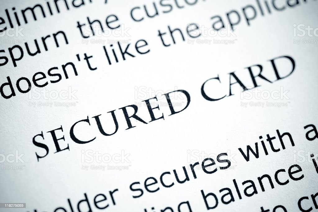 Secured Card royalty-free stock photo