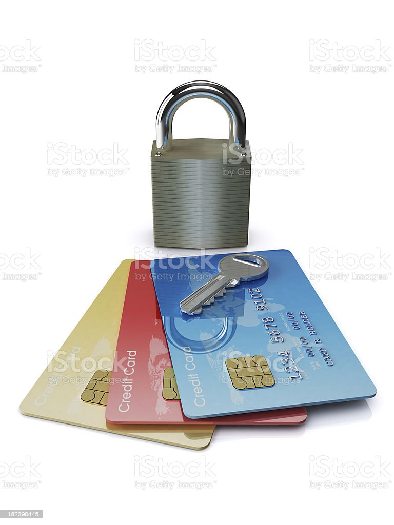 Secured Cards royalty-free stock photo