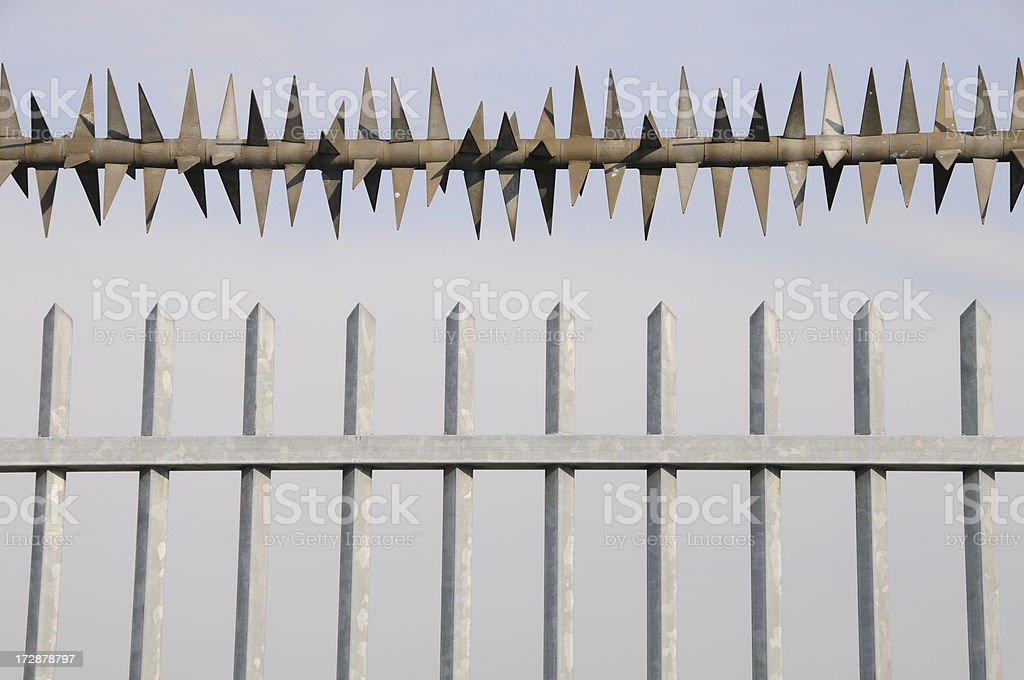 Secured Fence royalty-free stock photo