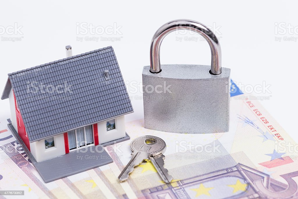 Secured house stock photo