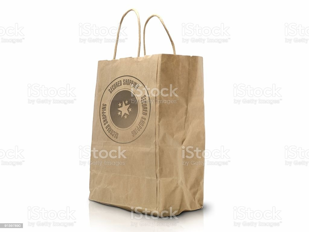 secured shopping bag royalty-free stock photo