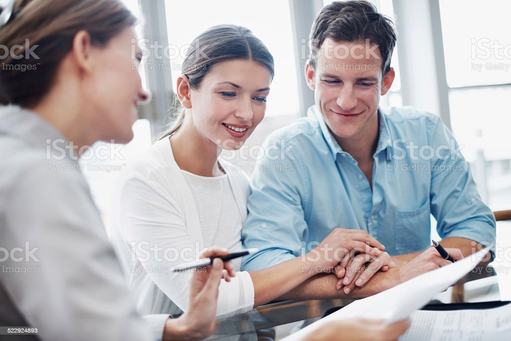 Securing their finances for the future stock photo