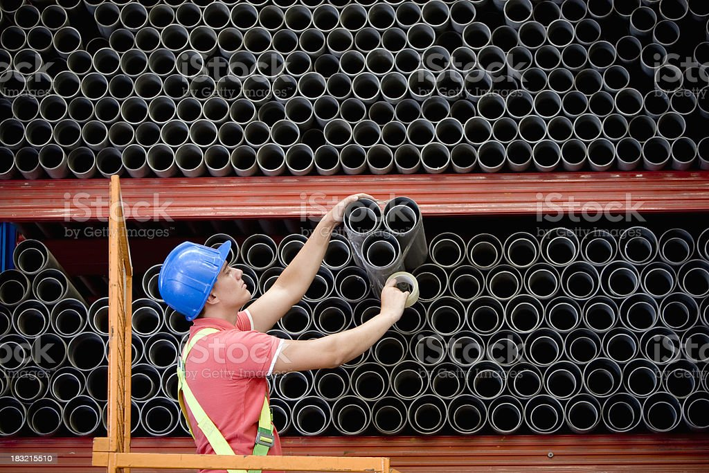 Securing with tape stock photo