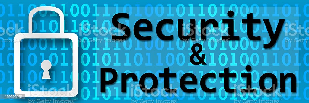 Security And Protection Binary Banner stock photo