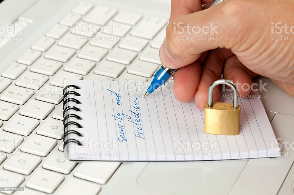 Security and protection. royalty-free stock photo