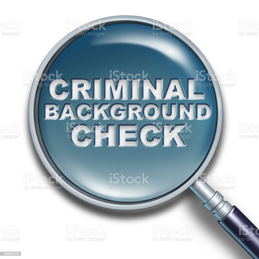 Security Background Check stock photo