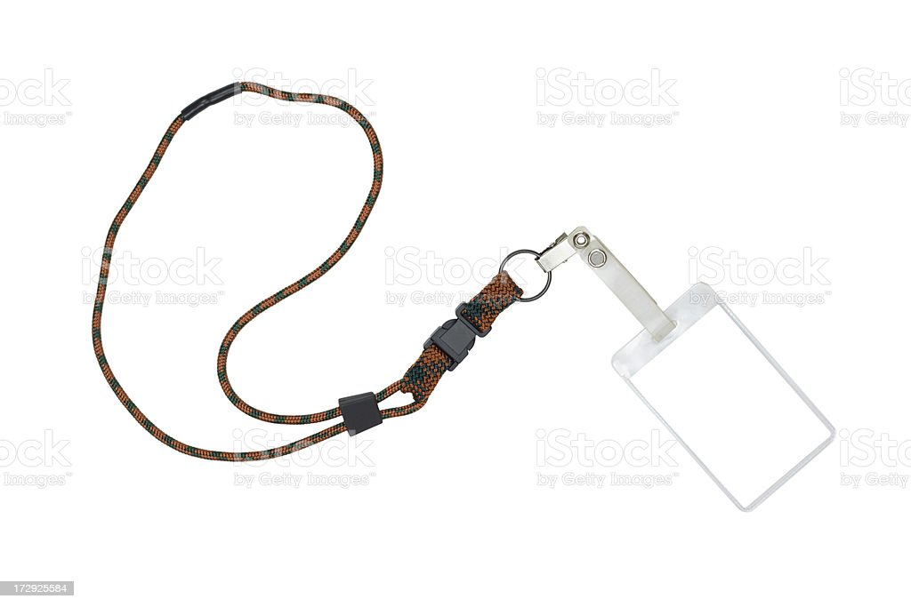 Security Badge ID Name Tag With Lanyard stock photo