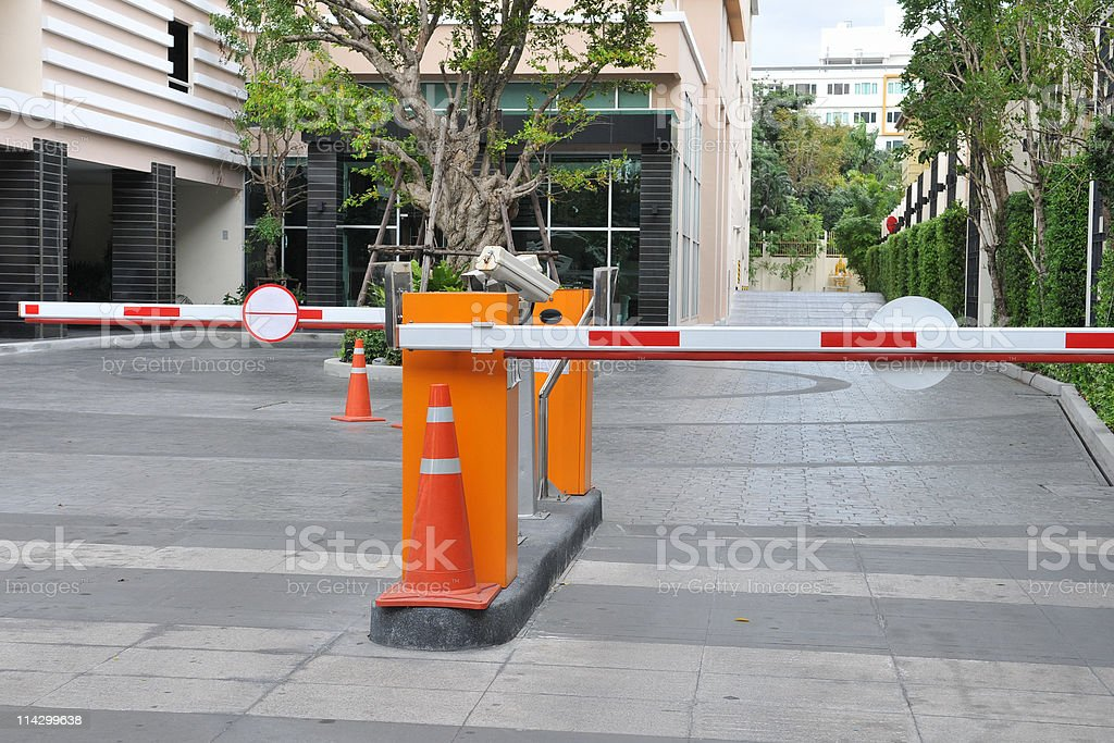 Security Barrier royalty-free stock photo
