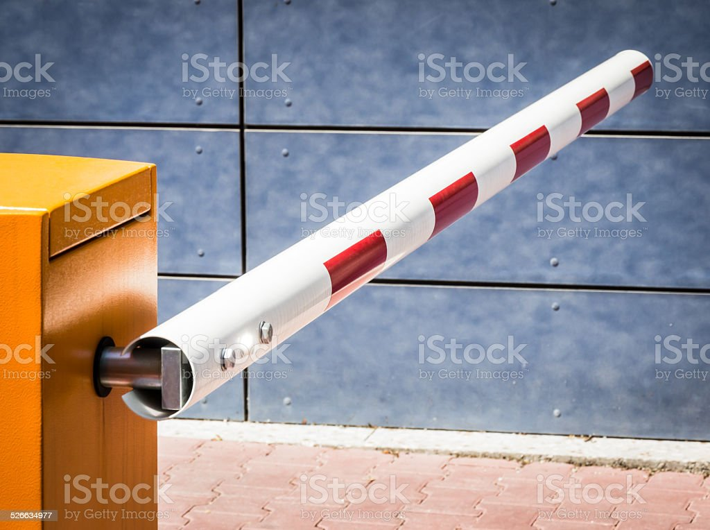 security barrier stock photo