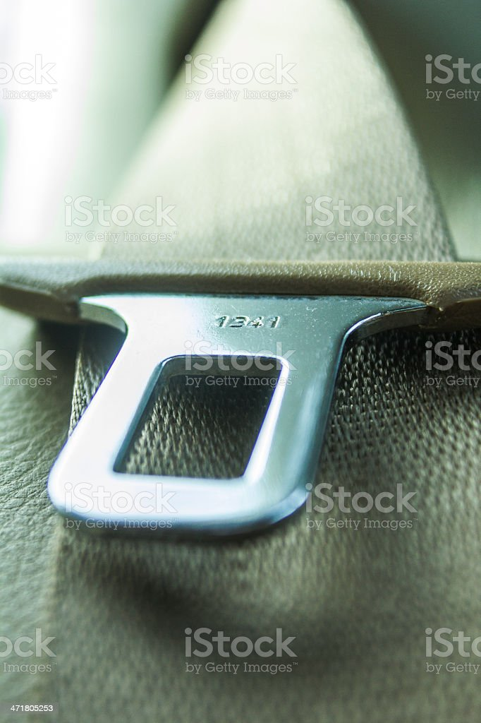 Security Belt from Inside Car stock photo
