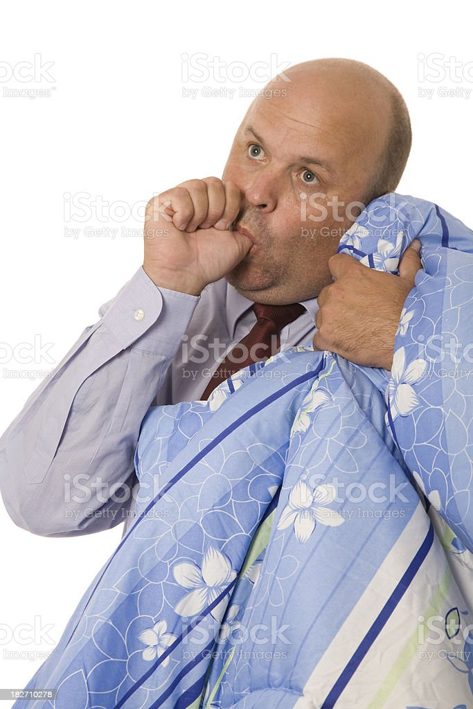 Security Blanket Man stock photo