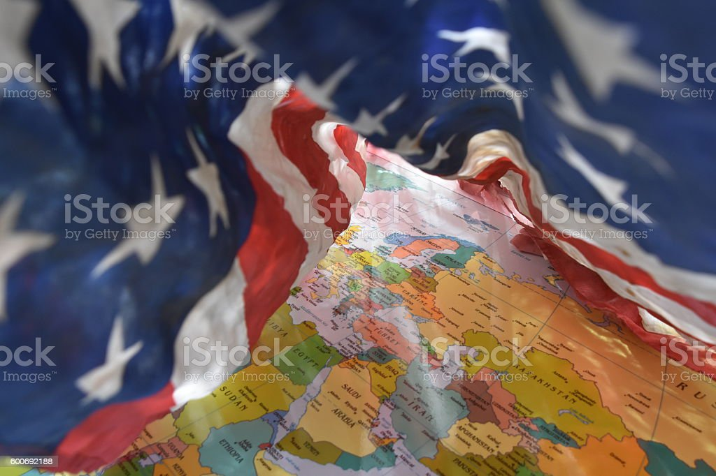 Security blanket the United States is for the world stock photo