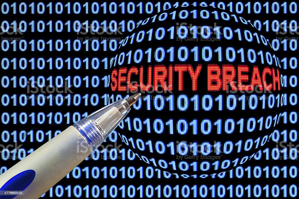 Security Breach Symbolism royalty-free stock photo