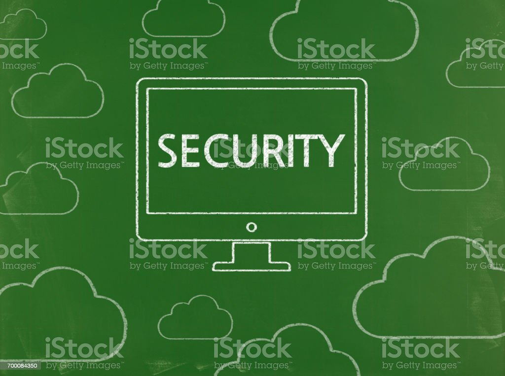 Security - Business Chalkboard Background stock photo