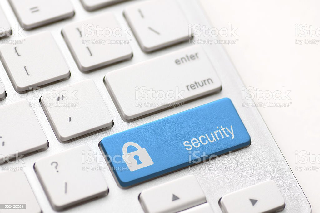 security button key stock photo