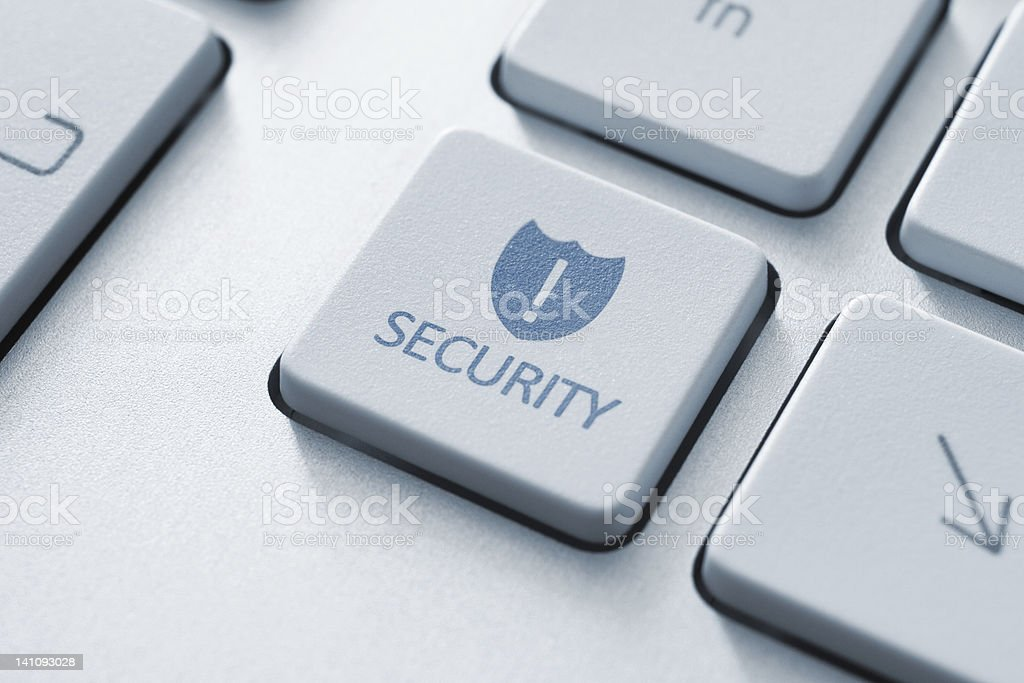 Security Button On Keyboard royalty-free stock photo