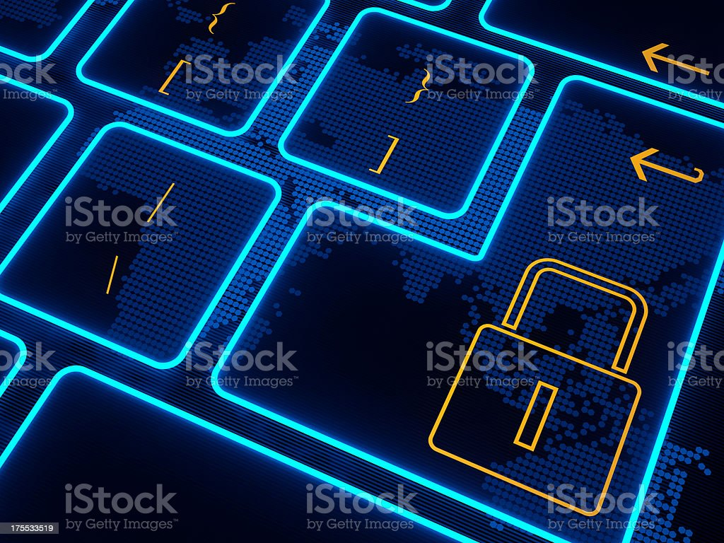 Security button virtual keyboard royalty-free stock photo